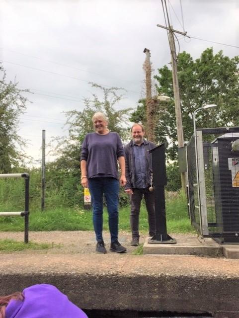 Caroline and Jon at a locke